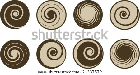 abstract coffee and milk vector set - stock vector