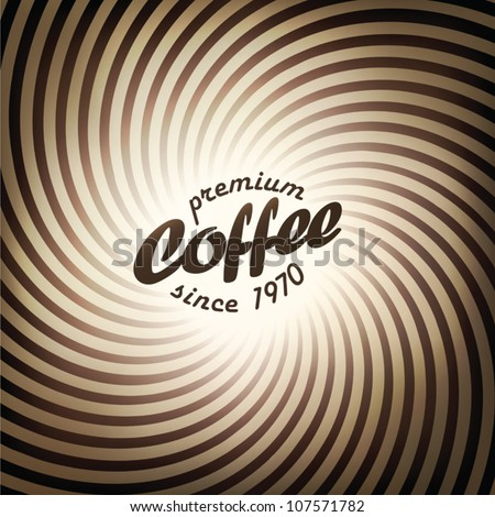 Abstract coffee background design template. Vector, EPS10