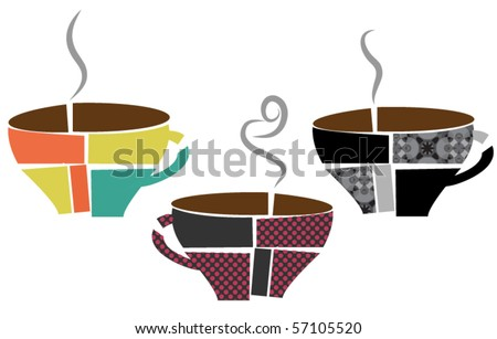 abstract coffee cups