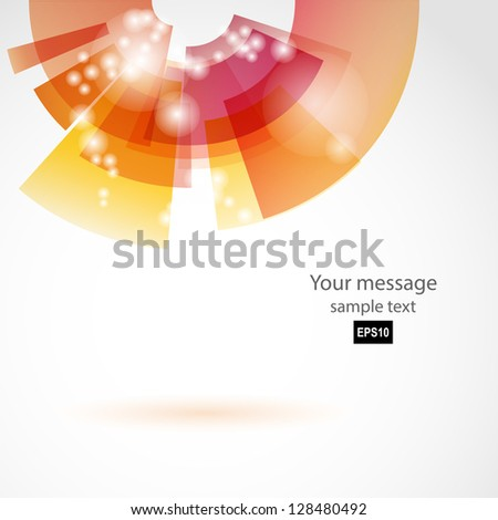 Abstract color Background for Business Brochure or Cover. EPS10. - stock vector