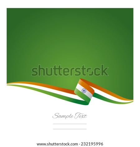 Abstract color background Indian flag vector - stock vector