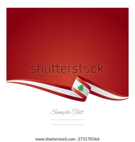 Abstract color background Lebanon flag vector - stock vector