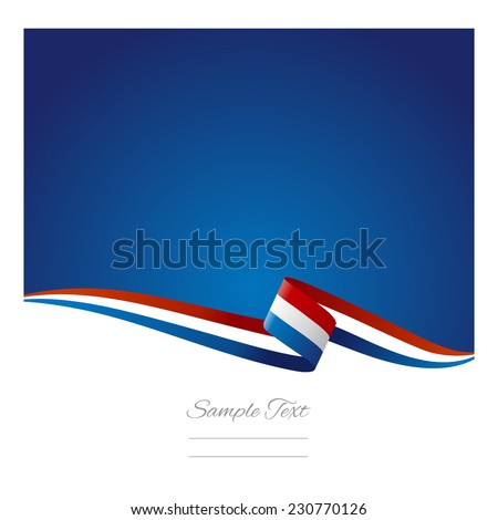 Abstract color background Netherlands flag - stock vector