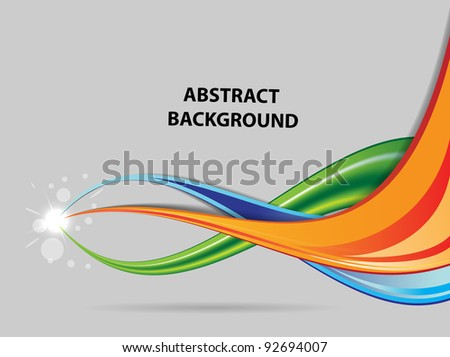 abstract color background with flash vector