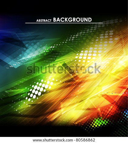 Abstract color background with lighting effect. Vector