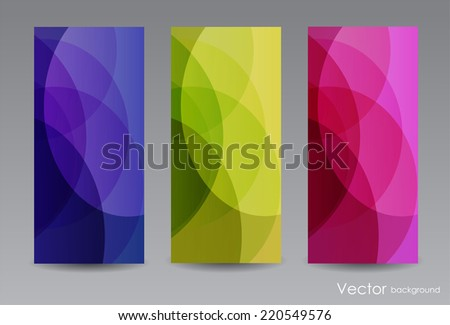 Abstract color backgrounds - stock vector