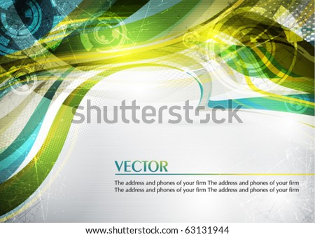 Abstract color card in retro style. Vector - stock vector