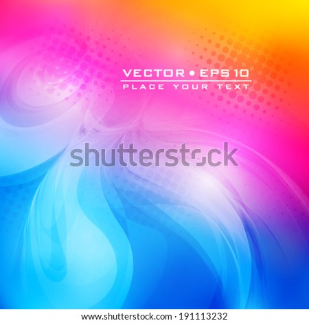 Abstract color card. Vector background - stock vector
