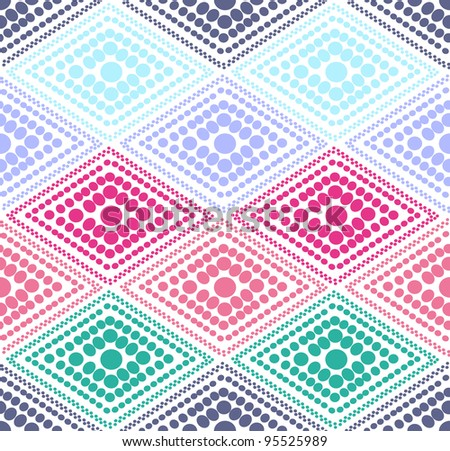 abstract color dot geometric pattern. Colorful vector illustration - stock vector