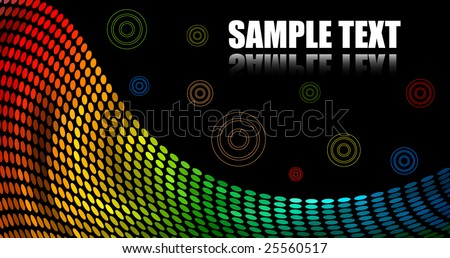 Abstract Color Dots Background - stock vector