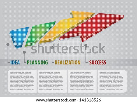 Abstract color graphics, about innovative idea - stock vector