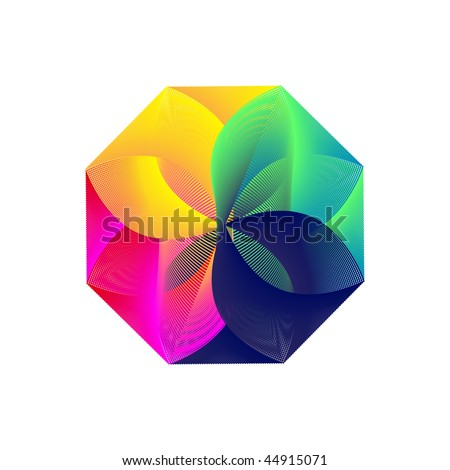 abstract color icon - stock vector
