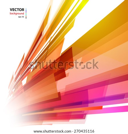 Abstract color light background, easy editable - stock vector