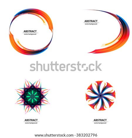 Abstract color light background Logo Abstract Business Technology icon easy editable - stock vector