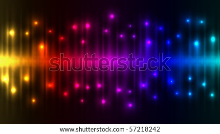 Abstract color lights background. - stock vector