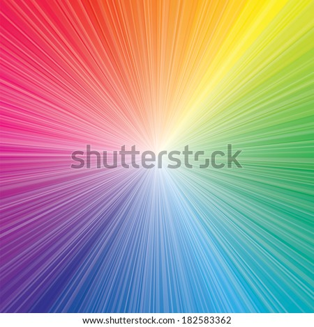abstract color of color wheel burst. vector illustration. - stock vector