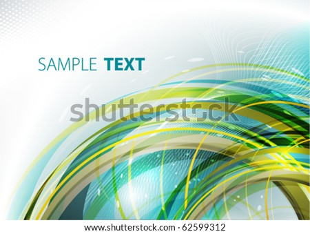 Abstract color ring. Vector - stock vector