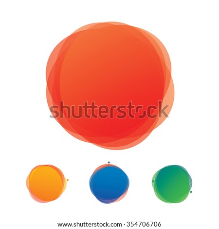 Abstract color shape and background. Graphic element.