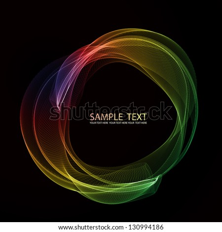 Abstract color smoke circle. EPS10 vector. - stock vector