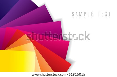 Abstract color spectrum background in editable vector format - stock vector