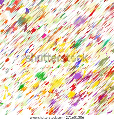 Abstract color splash and watercolor background. - stock vector
