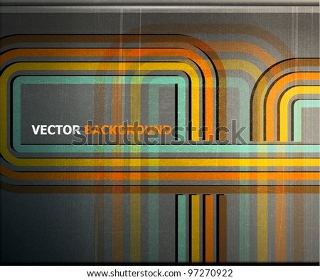 abstract color strip metal grunge background. vector illustration - stock vector