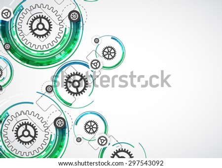 Abstract color technology computer technology business background. Vector - stock vector