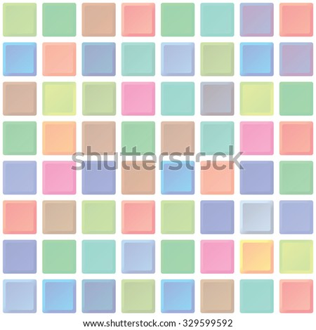 Abstract color tiles vector seamless pattern. Bathroom interior walls texture for design - stock vector