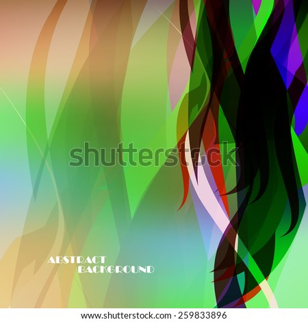 Abstract color wave background, vector art Illustration