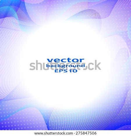 Abstract color wave design element. Vector illustration. - stock vector