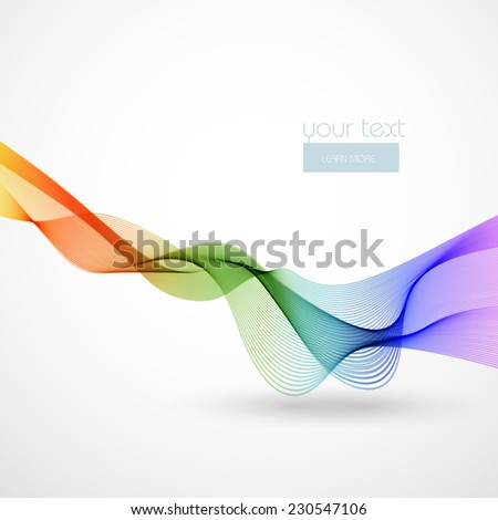Abstract color wave, easy editable - stock vector