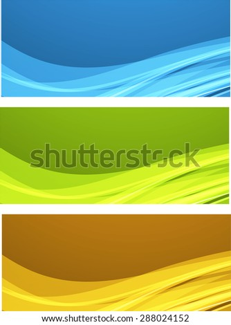 Abstract color wavy backgrounds - stock vector