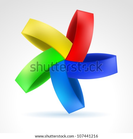Abstract Color Web Element. Illustration on white - stock vector