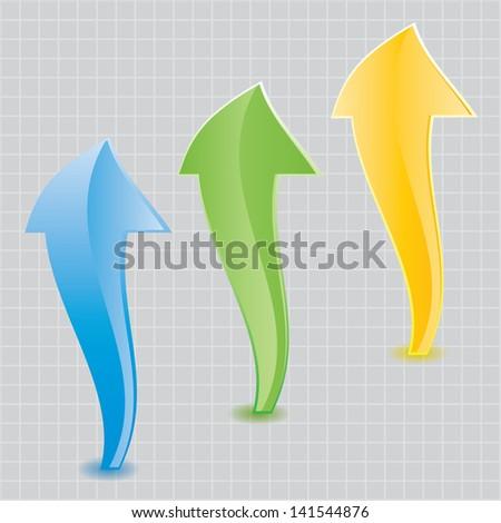 Abstract colored arrows.vector.EPS10 - stock vector