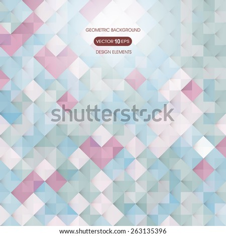 Abstract colored background with elements of geometry, square - stock vector
