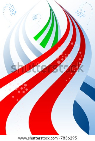 Abstract colored bands background vector illustration.