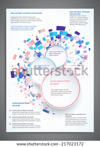 Abstract colored flyer template for your business - stock vector