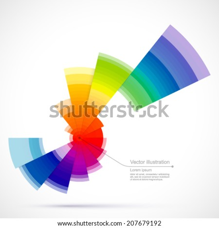 Abstract colored object. - stock vector