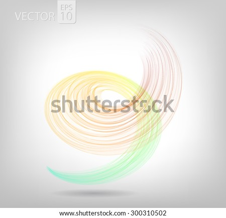 Abstract colored spiral lines VECTOR. - stock vector