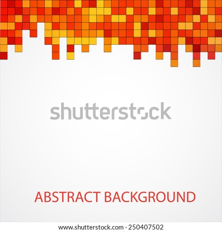 Abstract colored square pixel mosaic background isolated - stock vector
