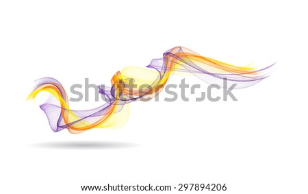 Abstract colored wave lines VECTOR.