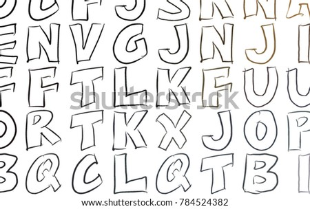 Abstract Colorful Alphabets Letters Artistic For Graphic Design Catalog Textile Or Texture Printing
