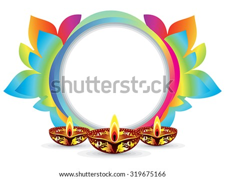 abstract colorful artistic diwali explode vector illustration - stock vector
