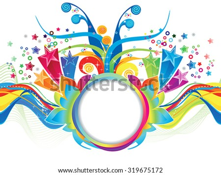 abstract colorful artistic explode vector illustration - stock vector