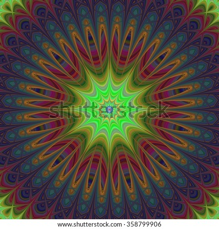 Abstract colorful artistic mandala ornament design background