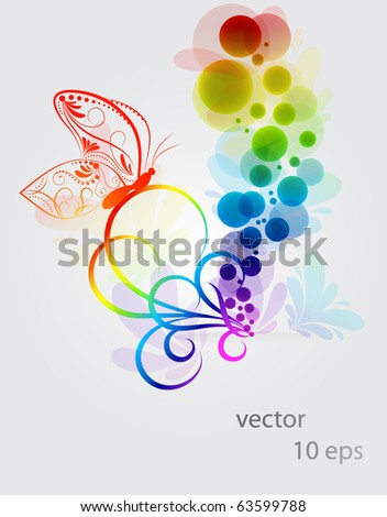 Abstract colorful background   Abstract Butterfly Logos