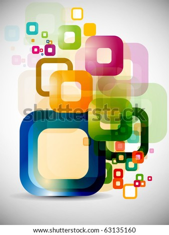 abstract colorful background elements vector design. - stock vector