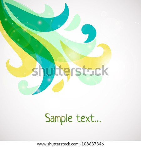 Abstract colorful background . Floral