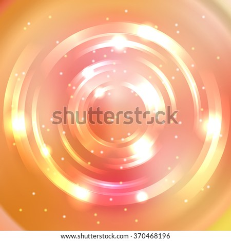 Abstract colorful background, Shining circle tunnel. Pink, orange, yellow colors. Elegant modern geometric wallpaper.   Vector  illustration - stock vector