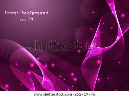 Abstract colorful background smoke wave. Vector - stock vector